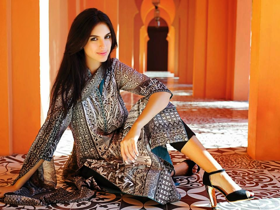 Latest pakistani lawn fashion 2015