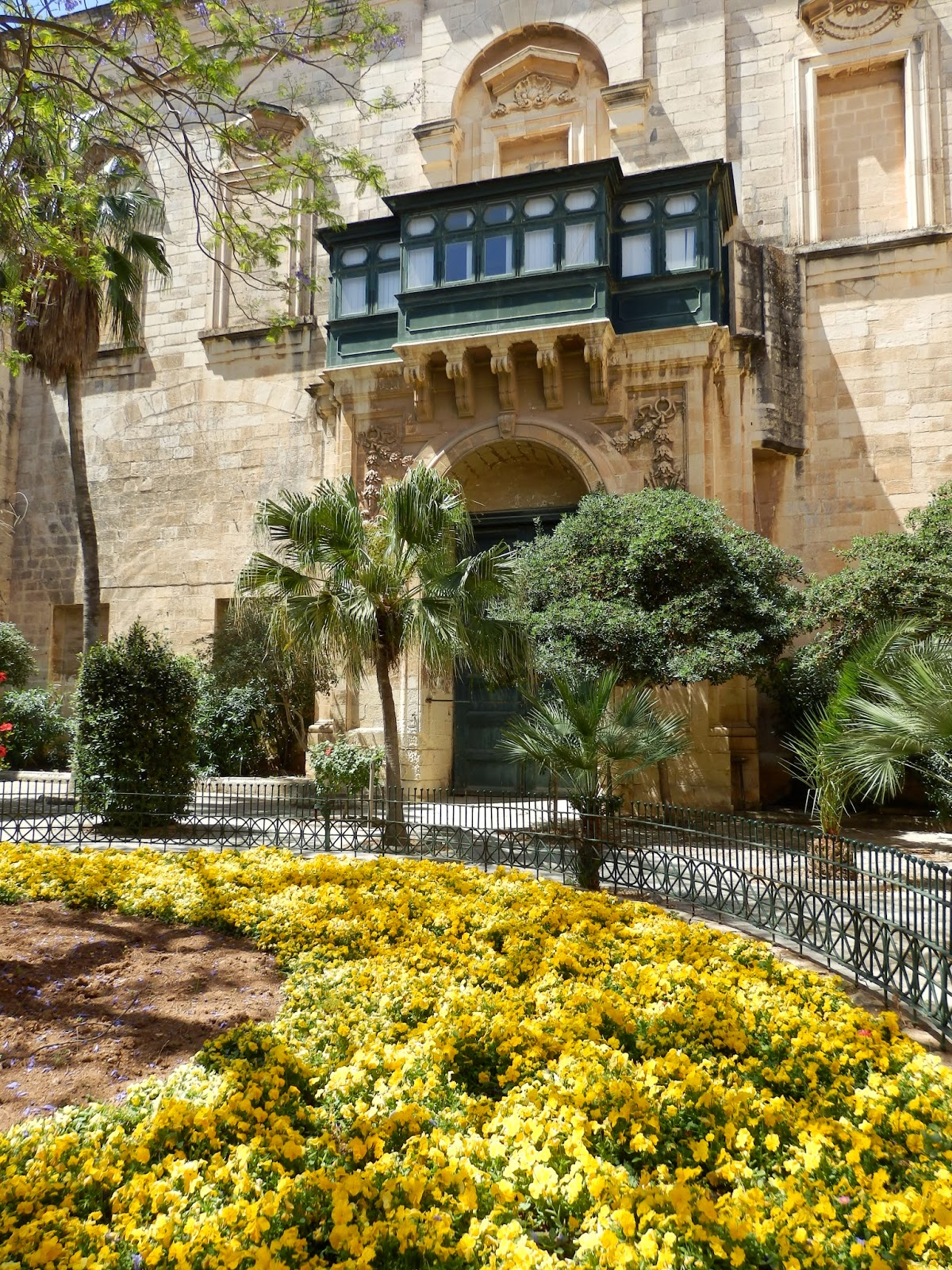 Courtyard of the Palace in Valletta Malta