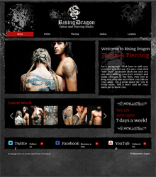 html5 website example templates for photographers and artists artpromotivate. Black Bedroom Furniture Sets. Home Design Ideas