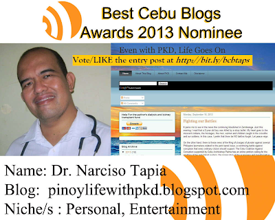 Best Cebu Blog 2013 nominee