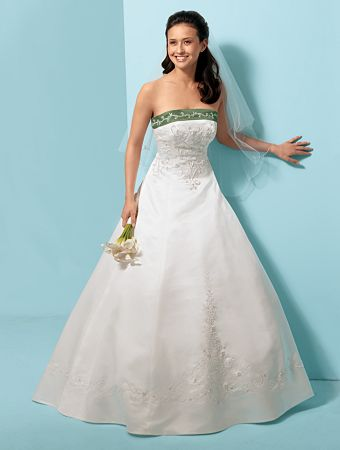 Alfred angelo wedding dresses bridal wears for Alfred angelo black and white wedding dress