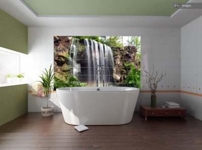 Landscapes in the bathroom