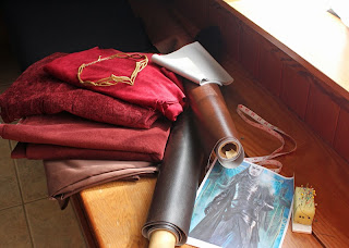 Materials for Lord Elrond's costume.