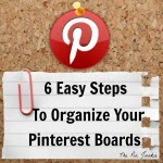 how-to organize Pinterest boards