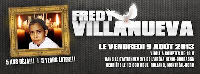 Fredy Villanueva - Cinq ans déjà!