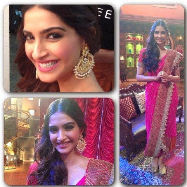 Sonam Kapoor on the sets of Comedy Nights with Kapil for the promotions of Disney Khoobsurat