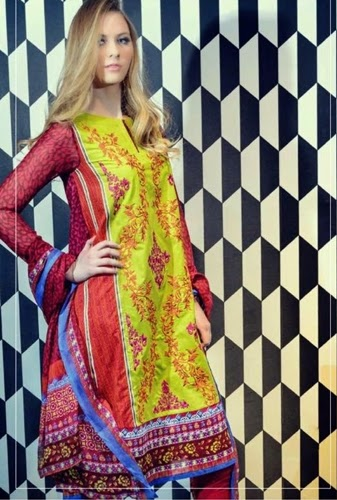 Cleopatra Embroidered Lawn Collection 2015
