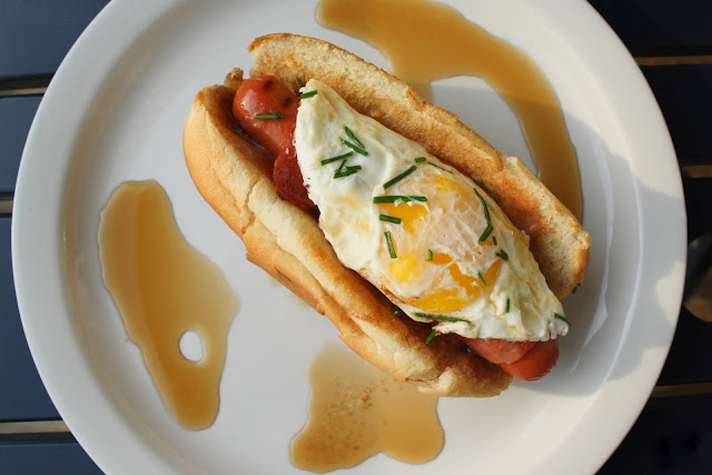 But if I did ... the inspiration for this breakfast hot dog would have ...