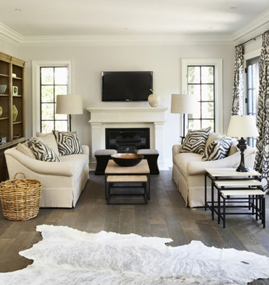 Living Room With Animal Print Accents For The Home Juxtapost