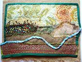 """""""Snake River"""" art quilt"""