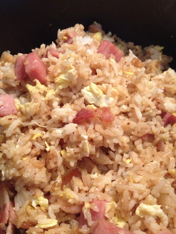 Insatiably Epicurious...: Bacon and Spam Fried Rice