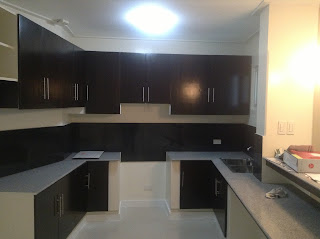 Kitchen of House and Lot for Sale in Quezon City