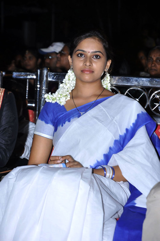 ethnic indian girl Sri divya photos at mallelatiramlo sirimalle puvvu audio launch