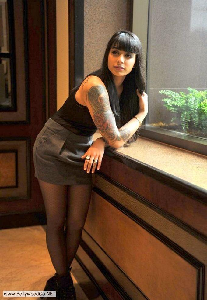 Mtv gurbani judge aka vj bani hot pictures she has so many tattoos