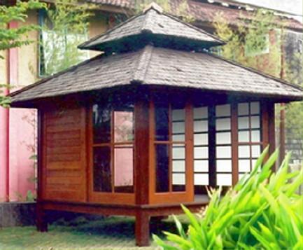 gambar teras rumah on MENJUAL ANEKA HASIL ALAM BAMBU, POHON HIAS DLL.: GAZEBO BAMBU untuk ...