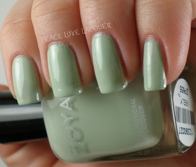 Zoya, Lovely, Neely, Creme, Light Green