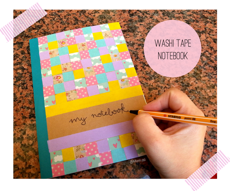 libreta washi tape diy notebook washi tape diy