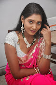Actress Nisha Latest Photos in Pink saree-thumbnail-8