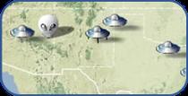 MAPA DE AVISTAMENTOS UFOS