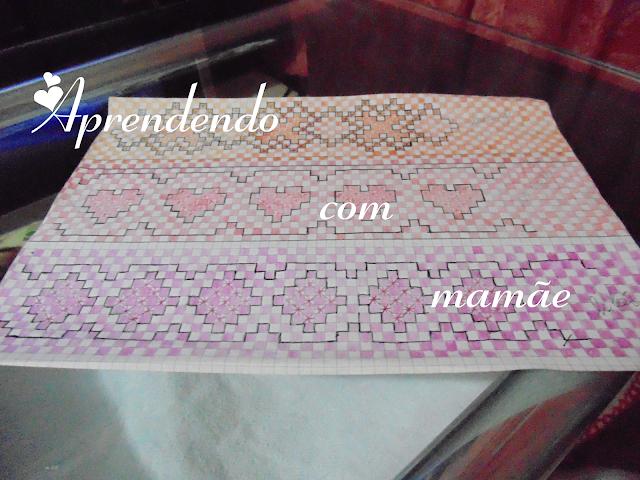 bordado, gráfico, trabalho, pano de prato xadrez, linha perle, linha Cléa