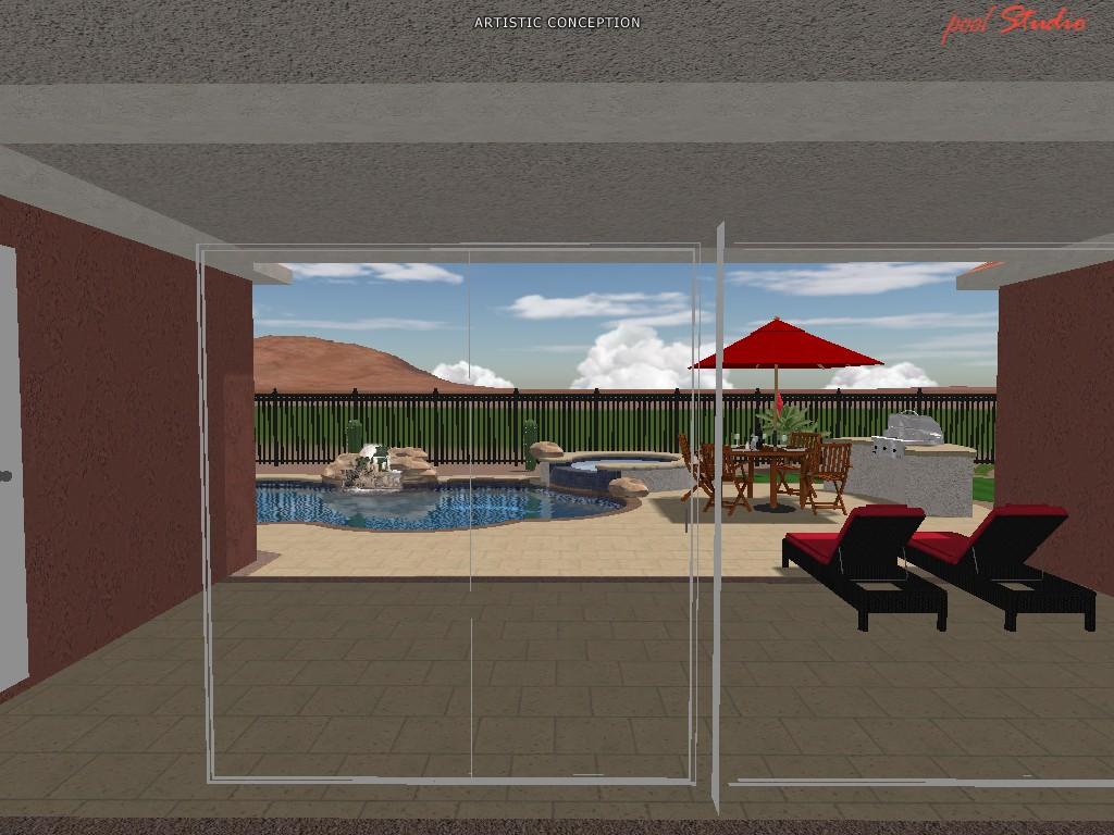 Estrella Mountain And Pool Project Cameo Pools