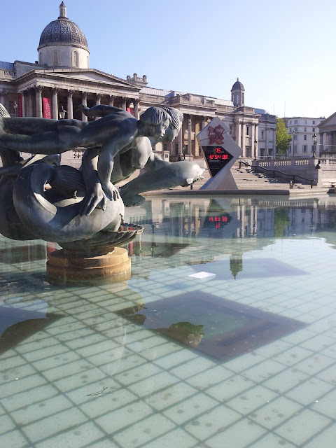 Trafalgar Square the morning after Cybher