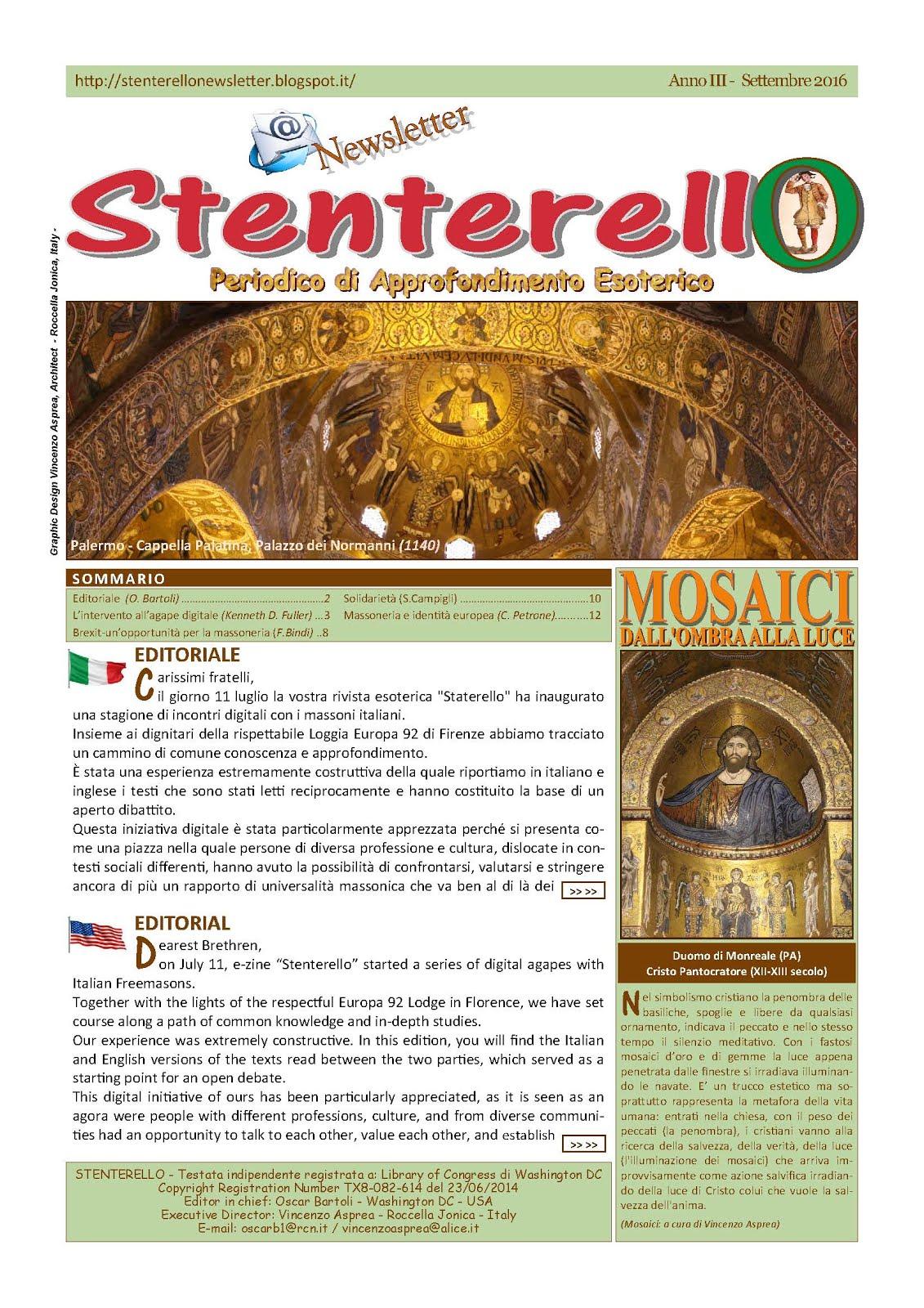 Stenterello Anno III - Settembre 2016
