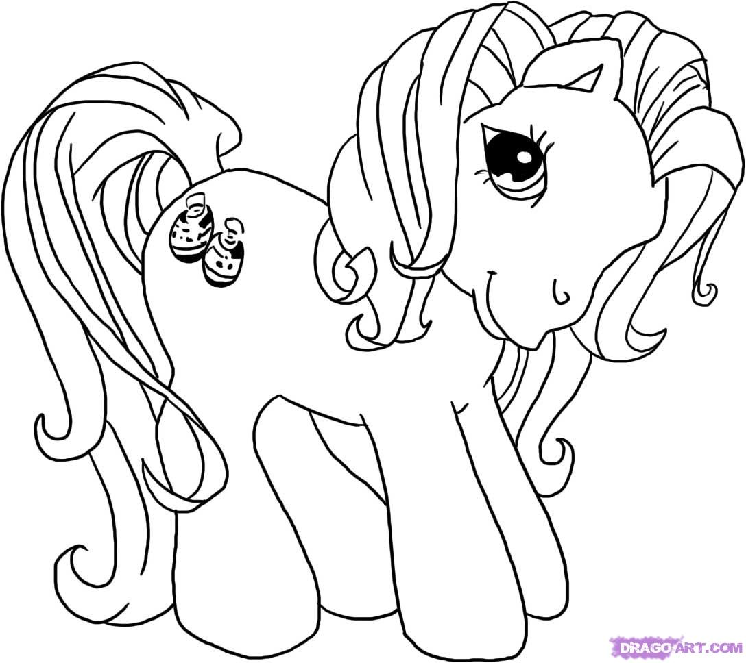 coloring pages ponies - photo#17