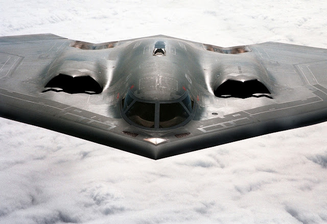 B-2 Spirit in air front view