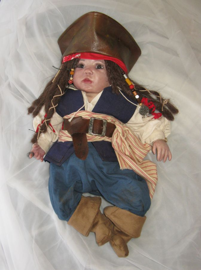Jack will also come with a mini treasure chest complete with  gold  coins a pirate themed blanket and a couple other baby pirate items!  sc 1 st  Orange Grove Nursery & Orange Grove Nursery: Captain Jack Sparrow
