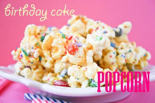 Birthday Cake Flavored Popcorn