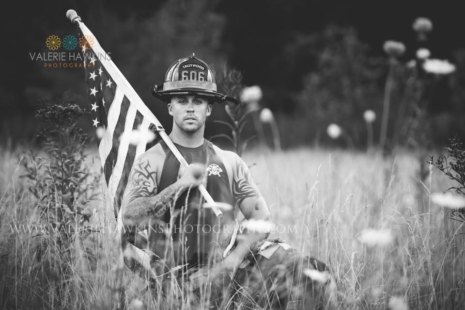 Valerie Hawkins Photography Kyle Firefighter Hunks And Ladders Calendar USMC