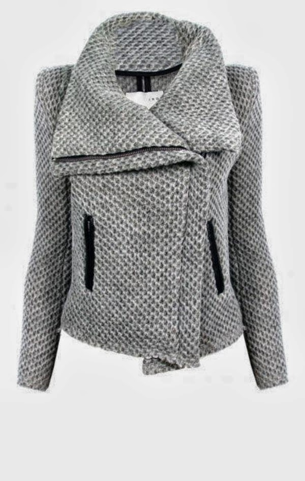 Grey Color Ladies Warm Jacket Inspiration