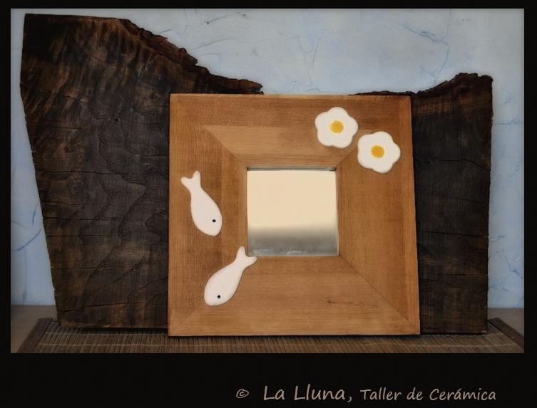 La Lluna Taller De Cer Mica Espejo Peces Y Flores