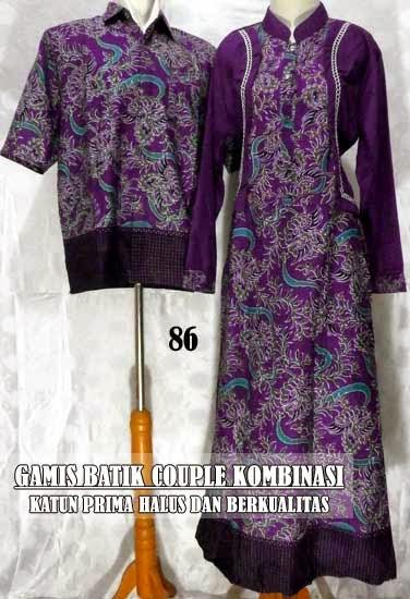 model gamis batik sarimbit terbaru cantik dan serasi gamis batik ...