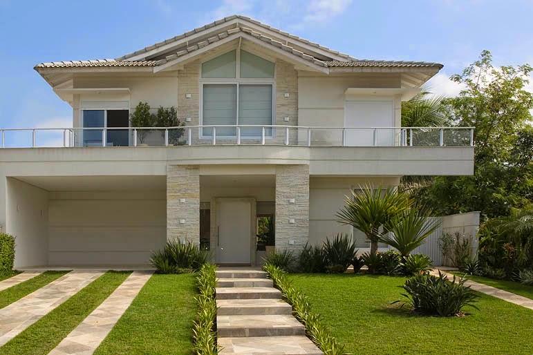 30 fachadas de casas com pedras veja diferentes tipos e - Ceramica para fachadas casas ...