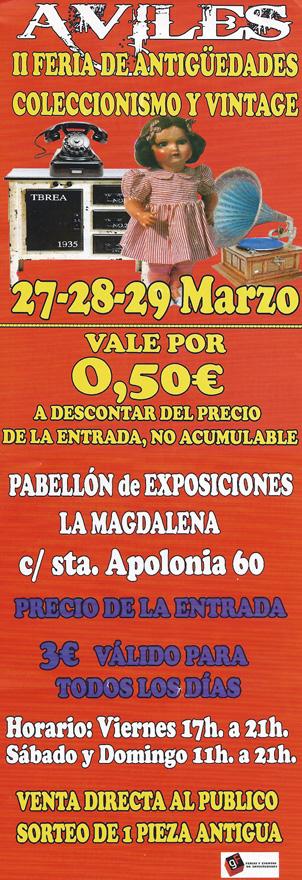 II Feria de antigüedades y coleccionismo, Avilés