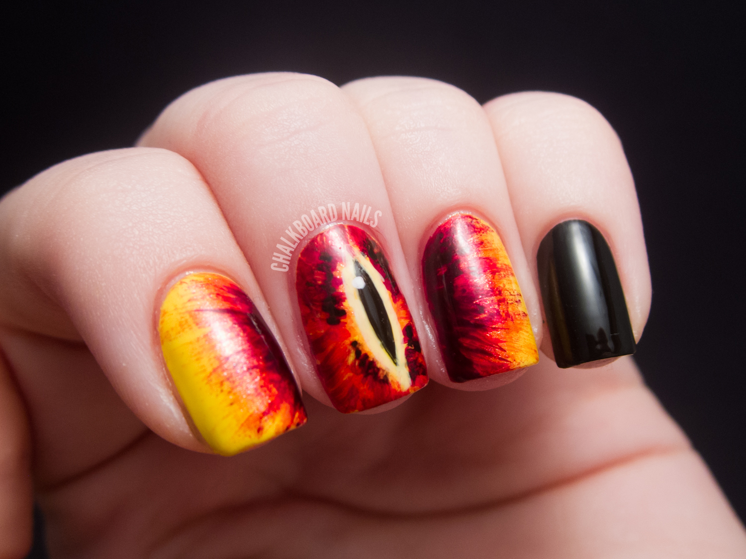 31DC2012: Day 23, Inspired by a Movie | Chalkboard Nails | Nail Art Blog