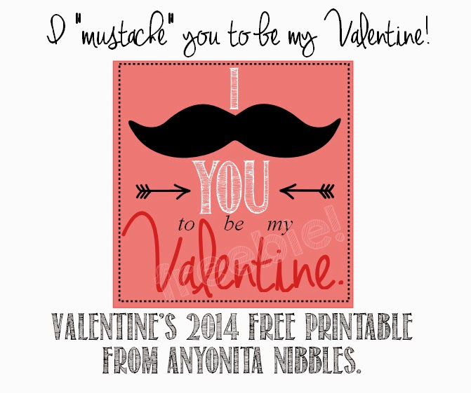 I mustache you to be my Valentine free printable from www.anyonita-nibbles.co.uk