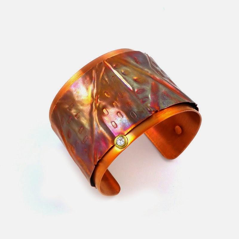 Fold Forming Copper Cuff