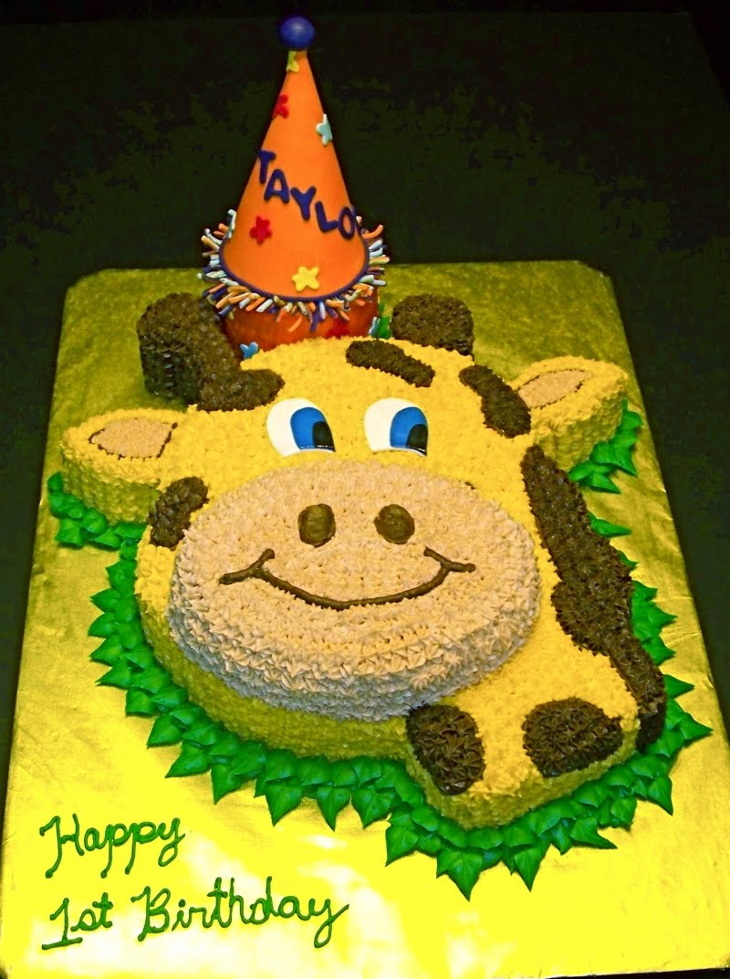 Ideas For Simple Safari Birthday Cake