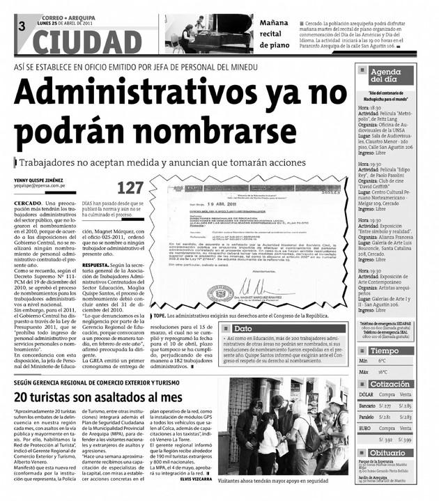 ... jefa de personal del MINEDU: Administrativos ya no podrán nombrarse