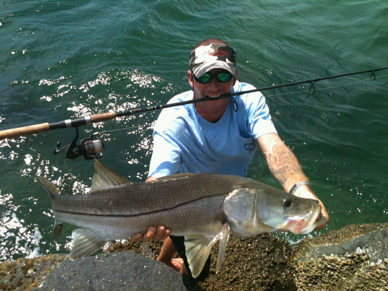On foot angler from todd eric juno bait juno beach for Snook fishing lures