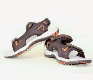 eBay: Buy Aaros Men Raven black Sandals at  Rs.393 only