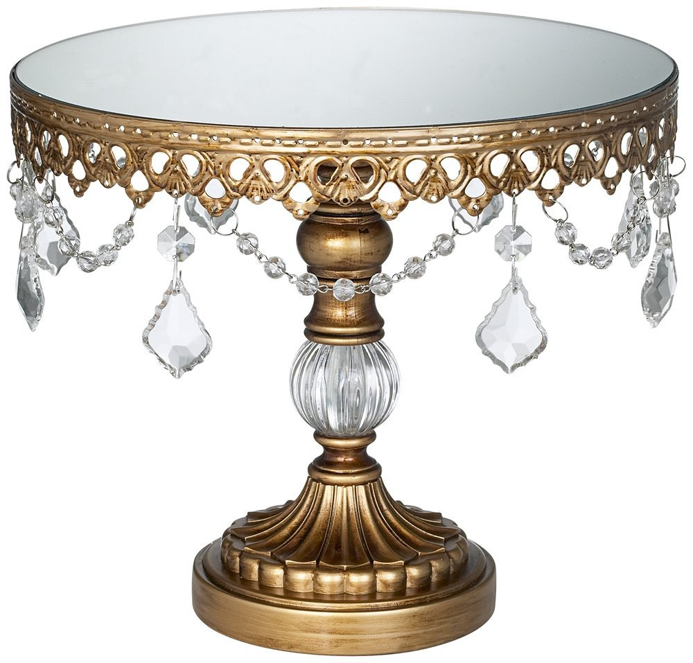 This Antique Gold Beaded Small Cake Stand is perfect for holiday ...