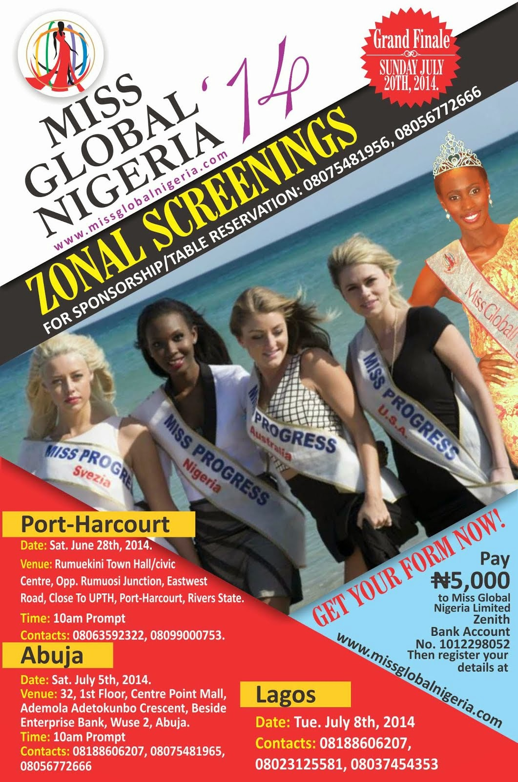 MISSGLOBAL NIGERIA 2014