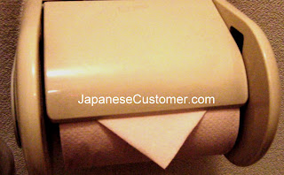 Folded Japanese toilet roll copyright peter hanami 2015