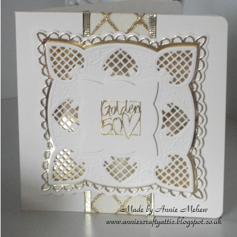 annie s crafty attic quick golden wedding anniversary card