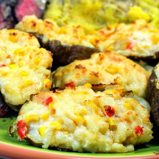 Twice Baked Potatoes with Pimento Cheese and Corn - 52 Grilling time ...
