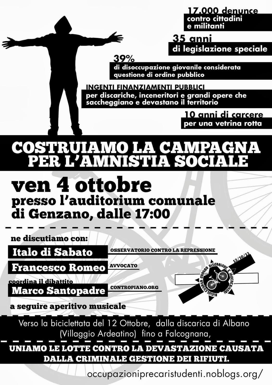 Costruiamo la campagna per l'amnistia sociale